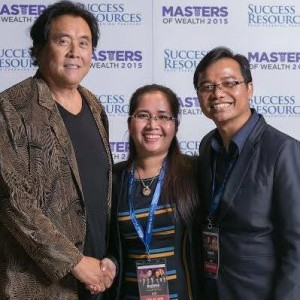 Piseth & Malay, Founders of PM Leadership, with Robert Kiyosaki