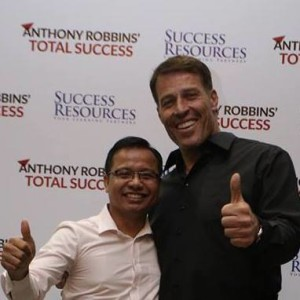 Piseth Kham with Tony Robbins