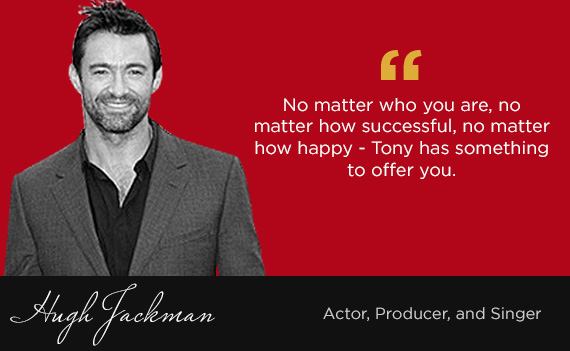 Image result for tony robbins with hugh jackman